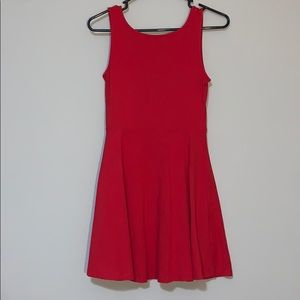 Red Bow Back Dress